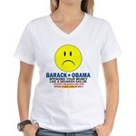 Obama Spending Women's V-Neck T-Shirt