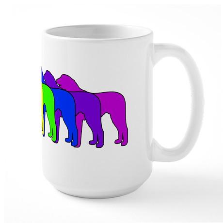 Rainbow Wolfhound Large Mug