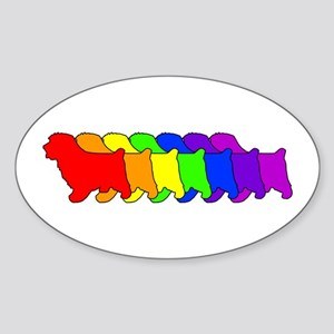 Rainbow Norfolk Oval Sticker