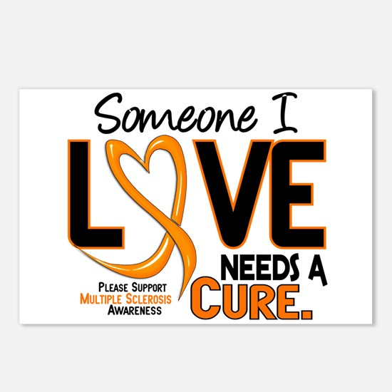 Needs A Cure 2 MULTIPLE SCLEROSIS Postcards (Packa