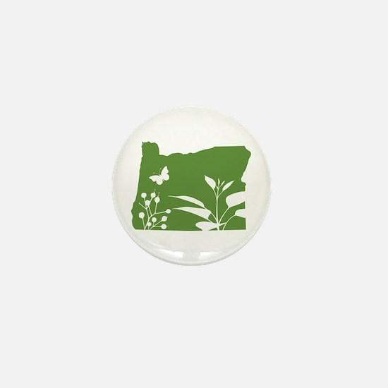 Green Oregon Mini Button