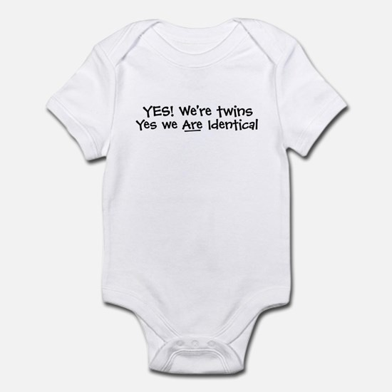 Yes We're Twins/ID - Infant Bodysuit