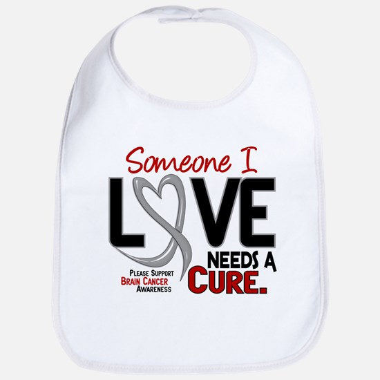 Needs A Cure 2 BRAIN CANCER Bib