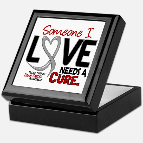 Needs A Cure 2 BRAIN CANCER Keepsake Box