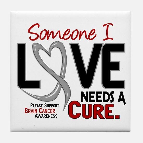 Needs A Cure 2 BRAIN CANCER Tile Coaster
