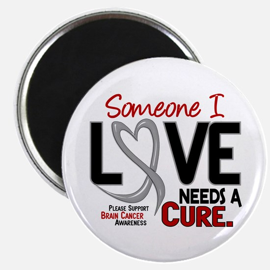 """Needs A Cure 2 BRAIN CANCER 2.25"""" Magnet (100 pack"""