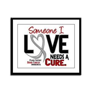 Needs A Cure 2 BRAIN CANCER Framed Panel Print