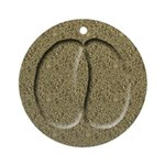 Bison Buffalo Track Keepsake Ornament