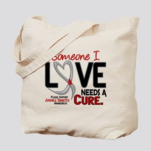 Needs A Cure 2 JUVENILE DIABETES Tote Bag