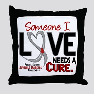 Needs A Cure 2 JUVENILE DIABETES Throw Pillow