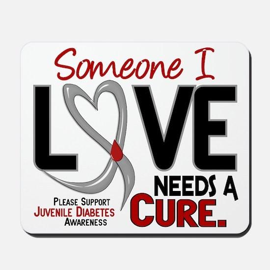 Needs A Cure 2 JUVENILE DIABETES Mousepad