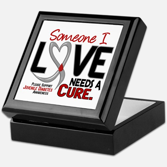 Needs A Cure 2 JUVENILE DIABETES Keepsake Box