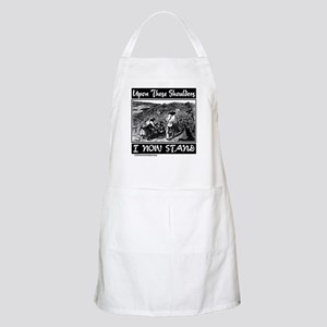 """""""Upon These Shoulders"""" BBQ Apron"""