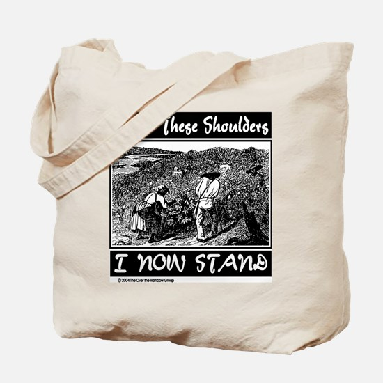 """Upon These Shoulders"" Tote Bag"