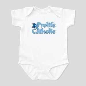 Prolife Catholic Cross Infant Bodysuit