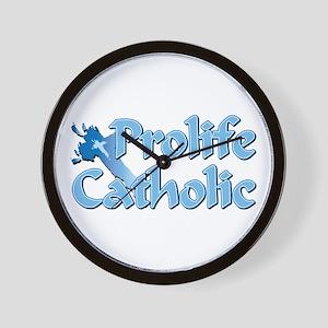 Prolife Catholic Cross Wall Clock