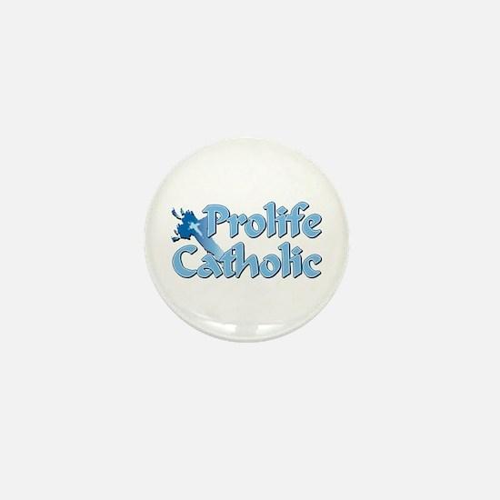 Prolife Catholic Cross Mini Button
