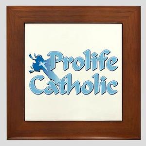 Prolife Catholic Cross Framed Tile