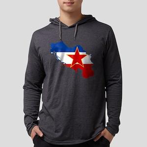 Yugoslavia Flag and Map Long Sleeve T-Shirt