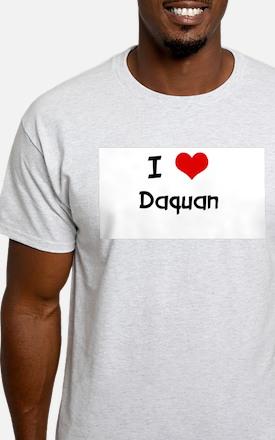 I LOVE DAQUAN Ash Grey T-Shirt