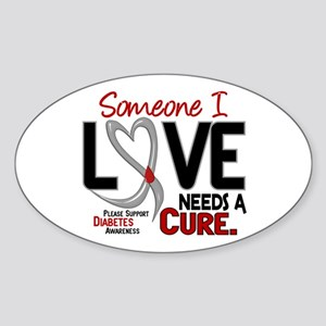 Needs A Cure 2 DIABETES Oval Sticker