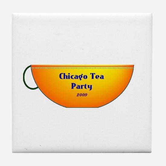 Chicago Tea Party Tile Coaster