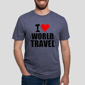 I Love World Travel T-Shirt