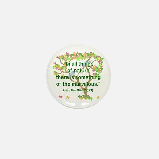 Aristotle Nature Mini Button