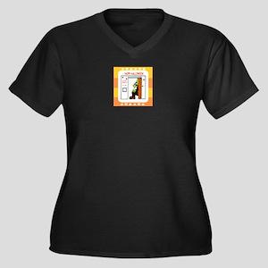 Frankensteins Women's Plus Size V-Neck Dark T-Shir