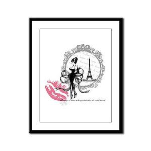 Paris Couture Framed Panel Print