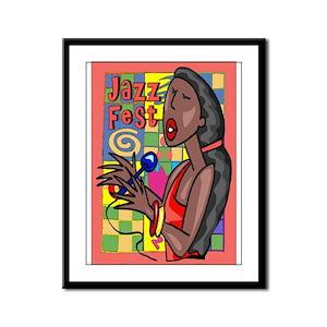 Jazz Fest Singer Framed Panel Print