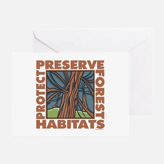 Preserve Forest Habitats Greeting Card