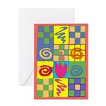 Abstract Quilt Greeting Card