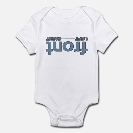 Front right left blue Infant Bodysuit