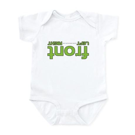 Front right left green Infant Bodysuit