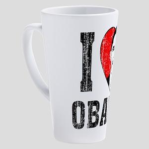 I Love Obama 17 oz Latte Mug