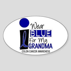 I Wear Blue For My Grandma 9 CC Oval Sticker