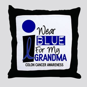 I Wear Blue For My Grandma 9 CC Throw Pillow