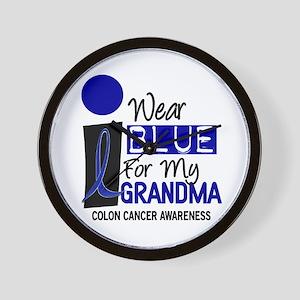 I Wear Blue For My Grandma 9 CC Wall Clock