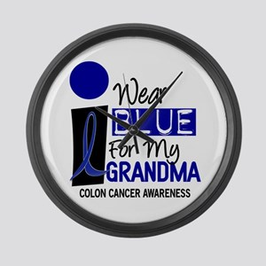 I Wear Blue For My Grandma 9 CC Large Wall Clock