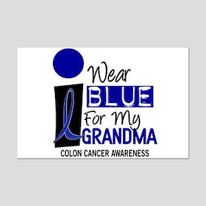 I Wear Blue For My Grandma 9 CC Mini Poster Print