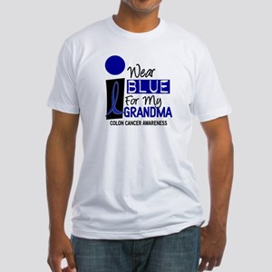 I Wear Blue For My Grandma 9 CC Fitted T-Shirt