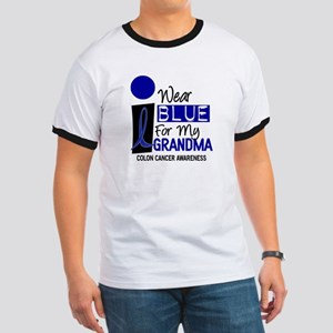 I Wear Blue For My Grandma 9 CC Ringer T