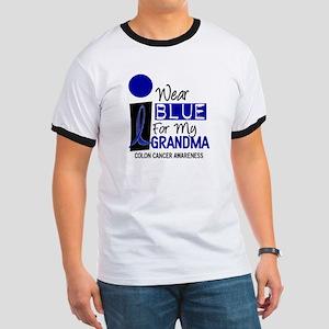 I Wear Blue For My Grandma 9 CC Ringer T