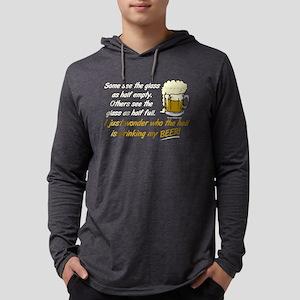Half Empty Beer Long Sleeve T-Shirt