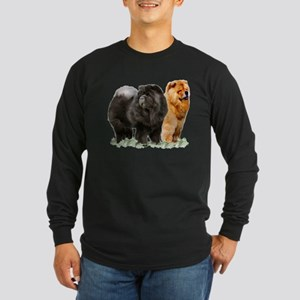 red and black chows Long Sleeve T-Shirt