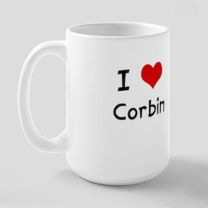 I LOVE CORBIN Large Mug