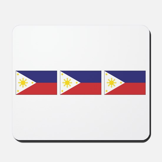 3 Philippine Flags Mousepad