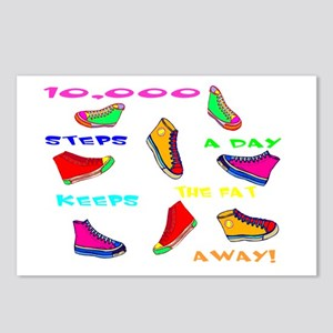 10,000 steps Postcards (Package of 8)