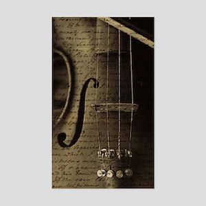 Violin Notes Rectangle Sticker
